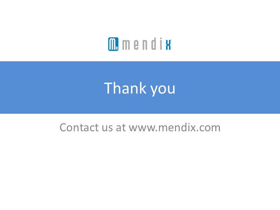 Contact us at www.mendix.com