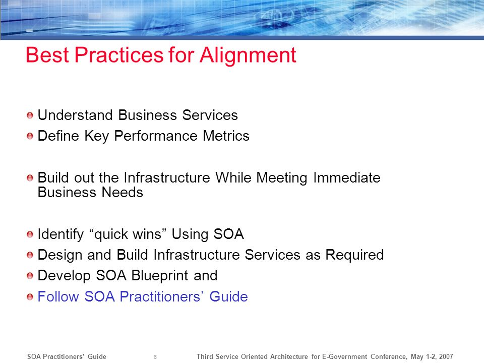 Best Practices for Alignment