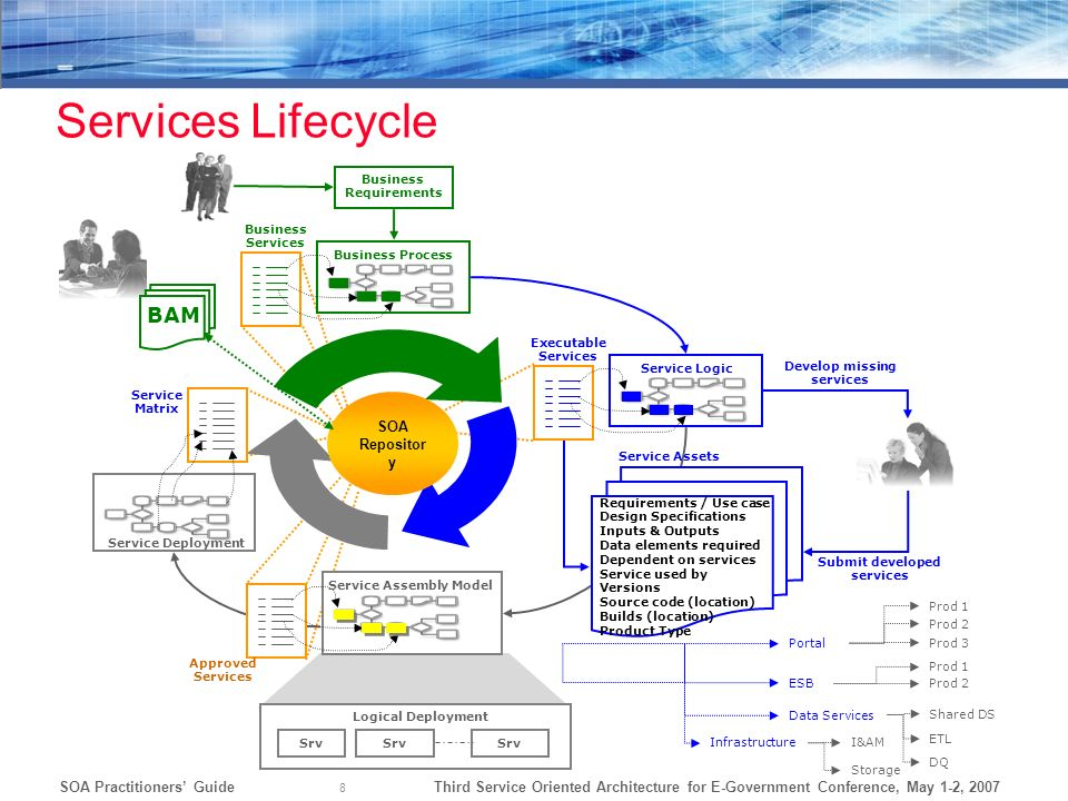 Services Lifecycle BAM SOA Repository Business Requirements