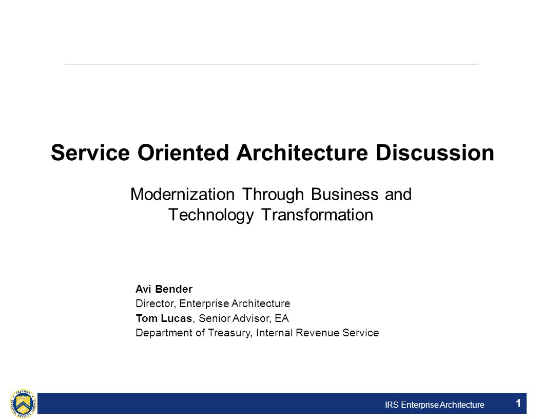 Service Oriented Architecture Discussion