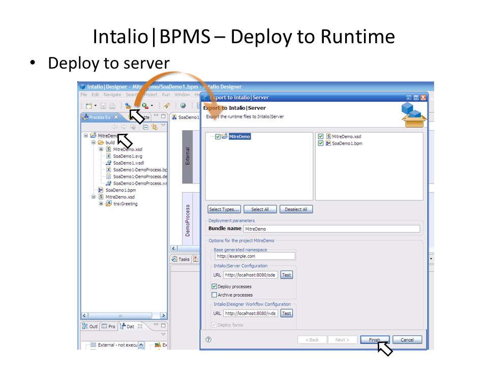 Intalio|BPMS – Deploy to Runtime