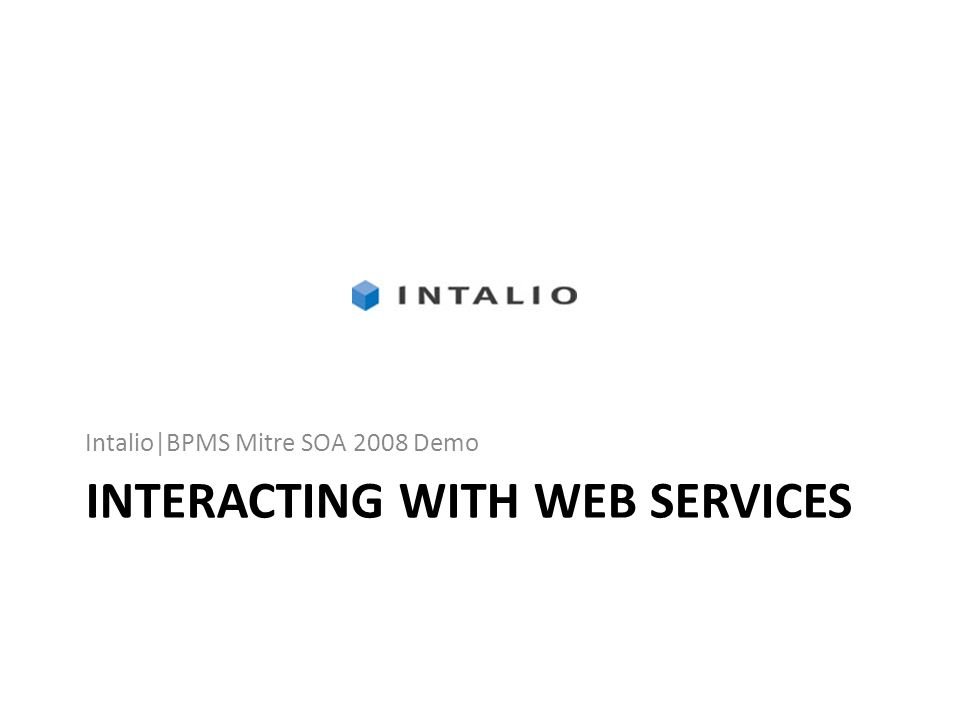 Interacting with Web Services