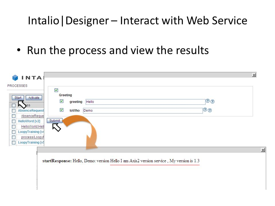 Intalio|Designer – Interact with Web Service