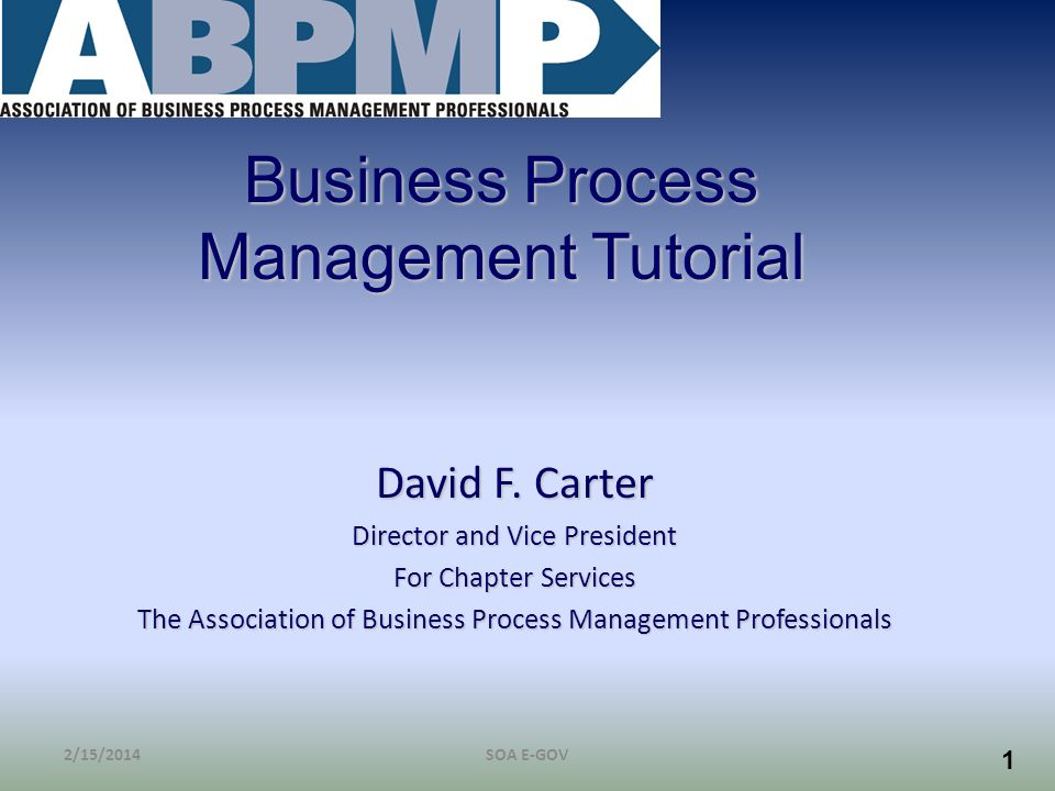 Business Process Management Tutorial