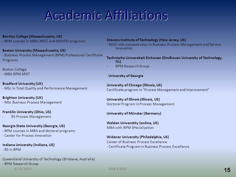 Academic Affiliations