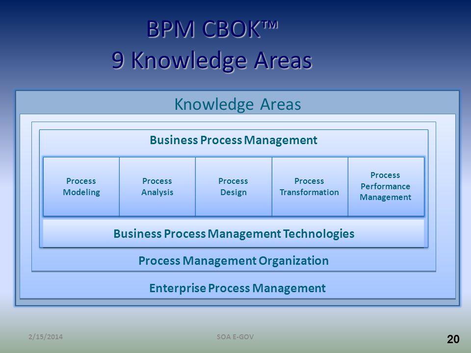 BPM CBOK™ 9 Knowledge Areas