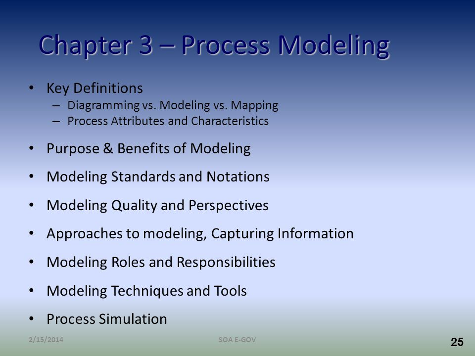 Chapter 3 – Process Modeling