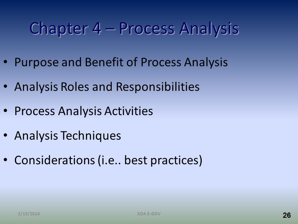 Chapter 4 – Process Analysis