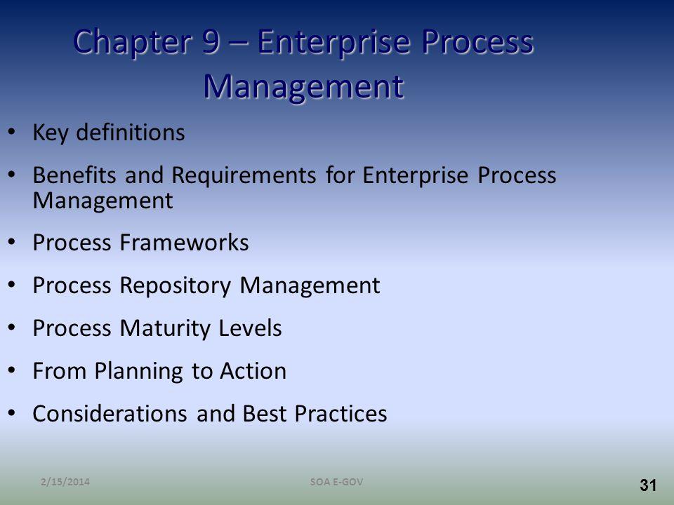 Chapter 9 – Enterprise Process Management