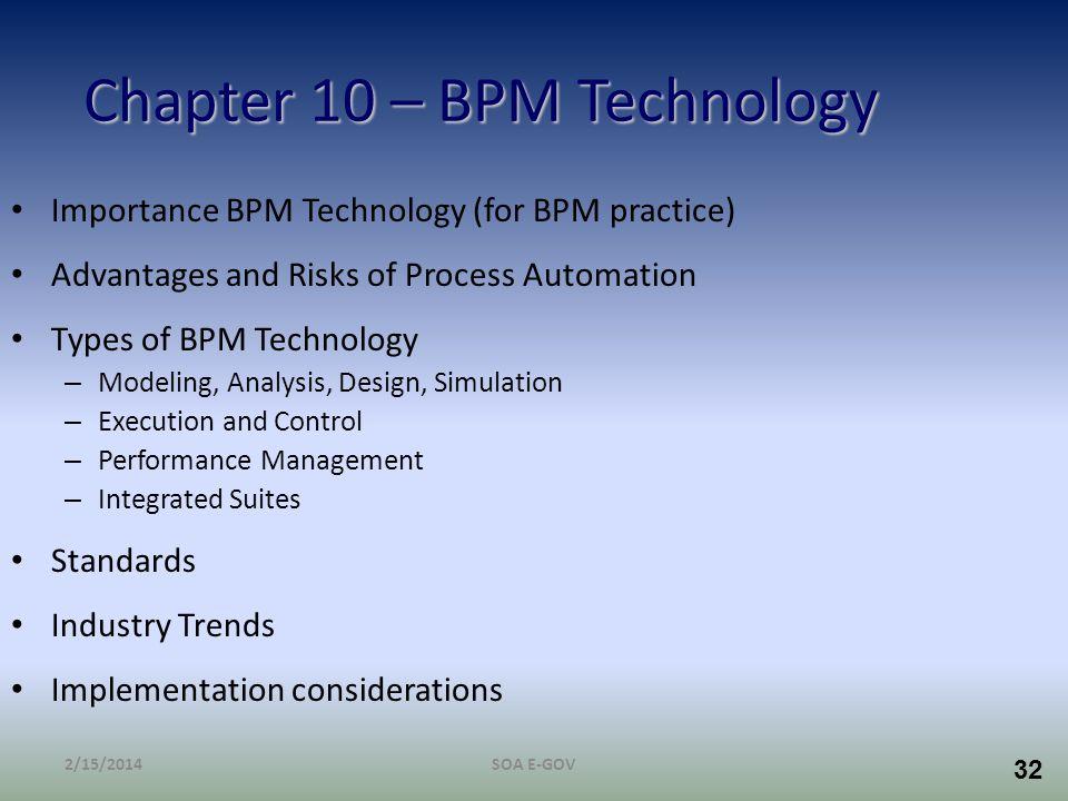 Chapter 10 – BPM Technology