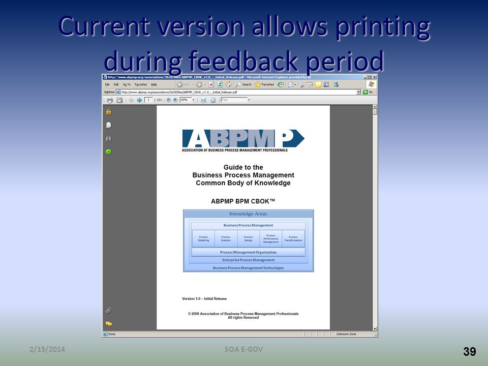 Current version allows printing during feedback period