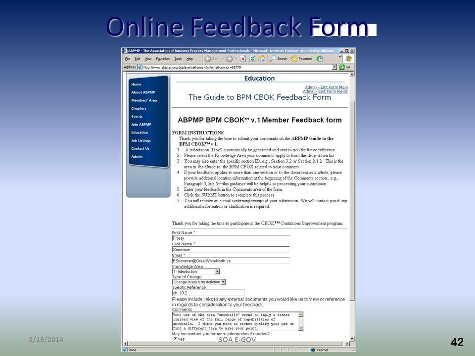 Online Feedback Form 3/28/2017 SOA E-GOV