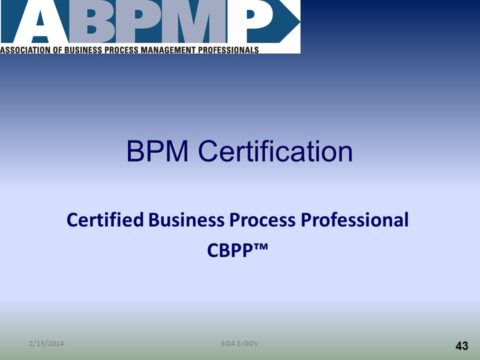 Certified Business Process Professional CBPP™