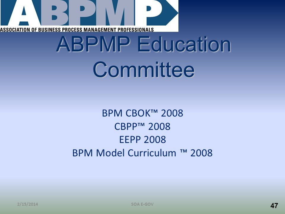 ABPMP Education Committee