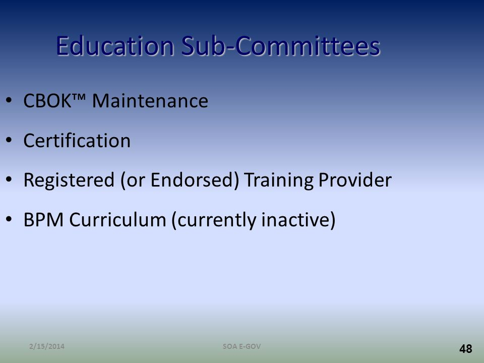 Education Sub-Committees
