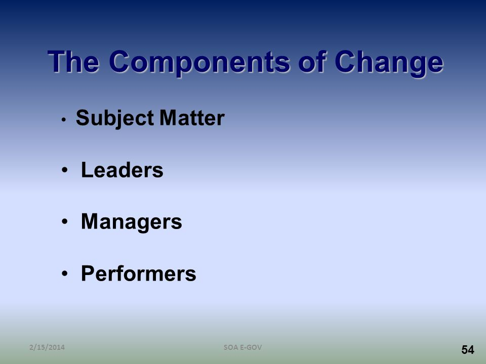 The Components of Change