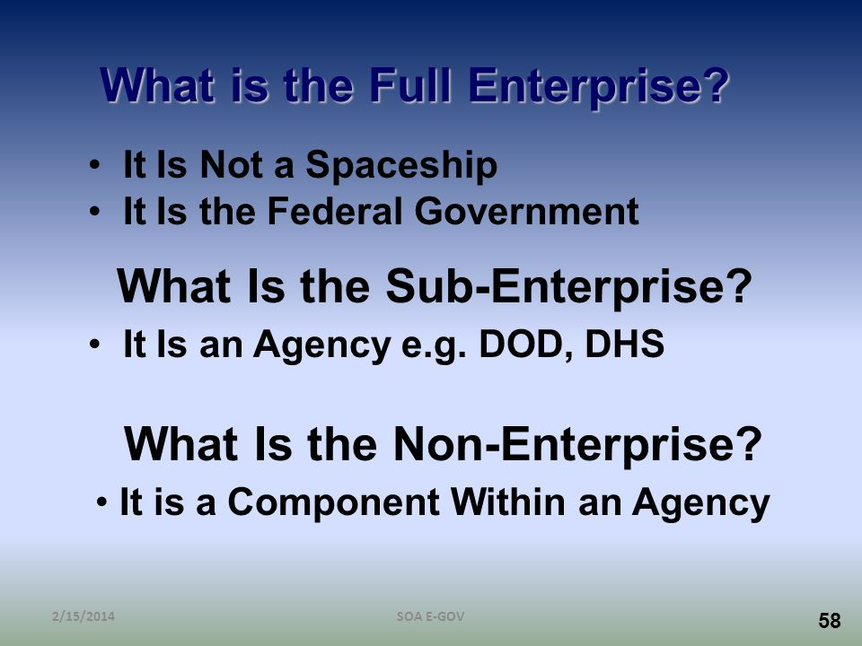 What is the Full Enterprise