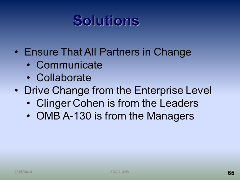 Solutions Ensure That All Partners in Change Communicate Collaborate