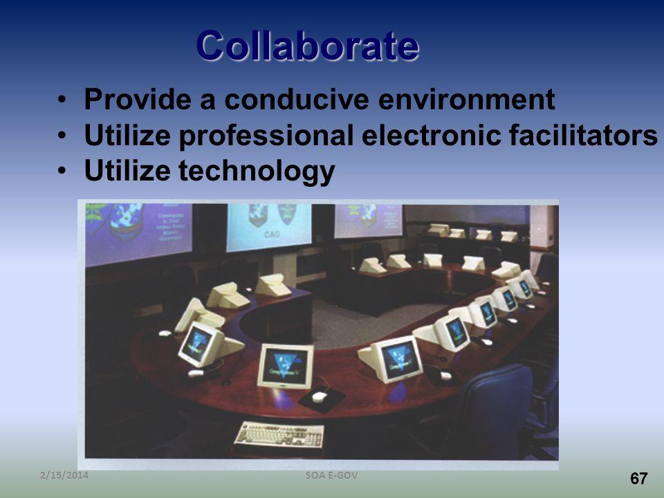 Collaborate Provide a conducive environment