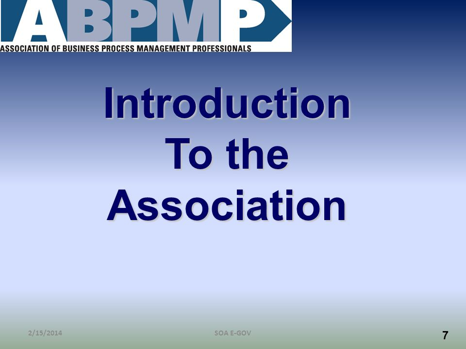 Introduction To the Association