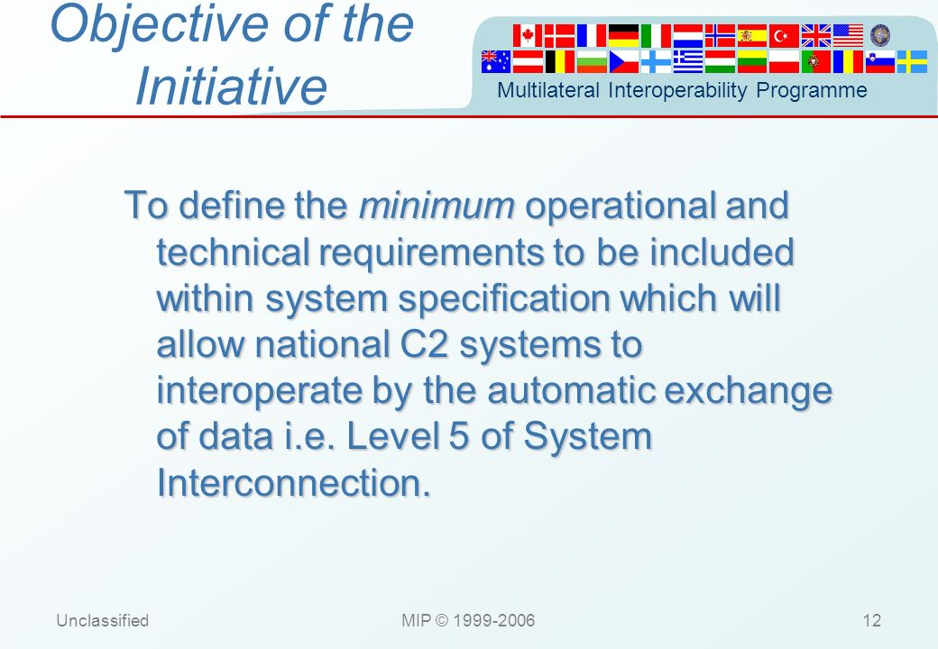 Objective of the Initiative