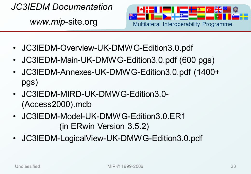 JC3IEDM Documentation www.mip-site.org