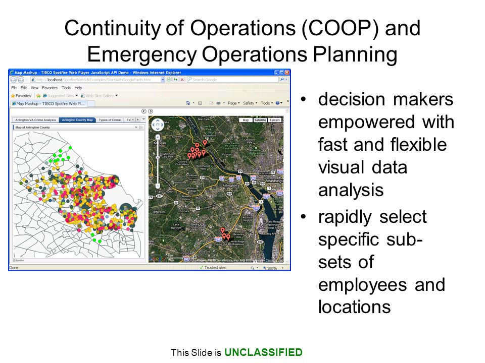 Continuity of Operations (COOP) and Emergency Operations Planning