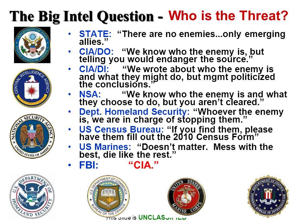The Big Intel Question -