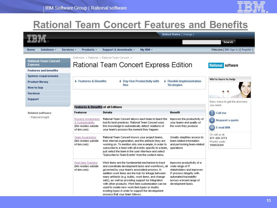Rational Team Concert Features and Benefits