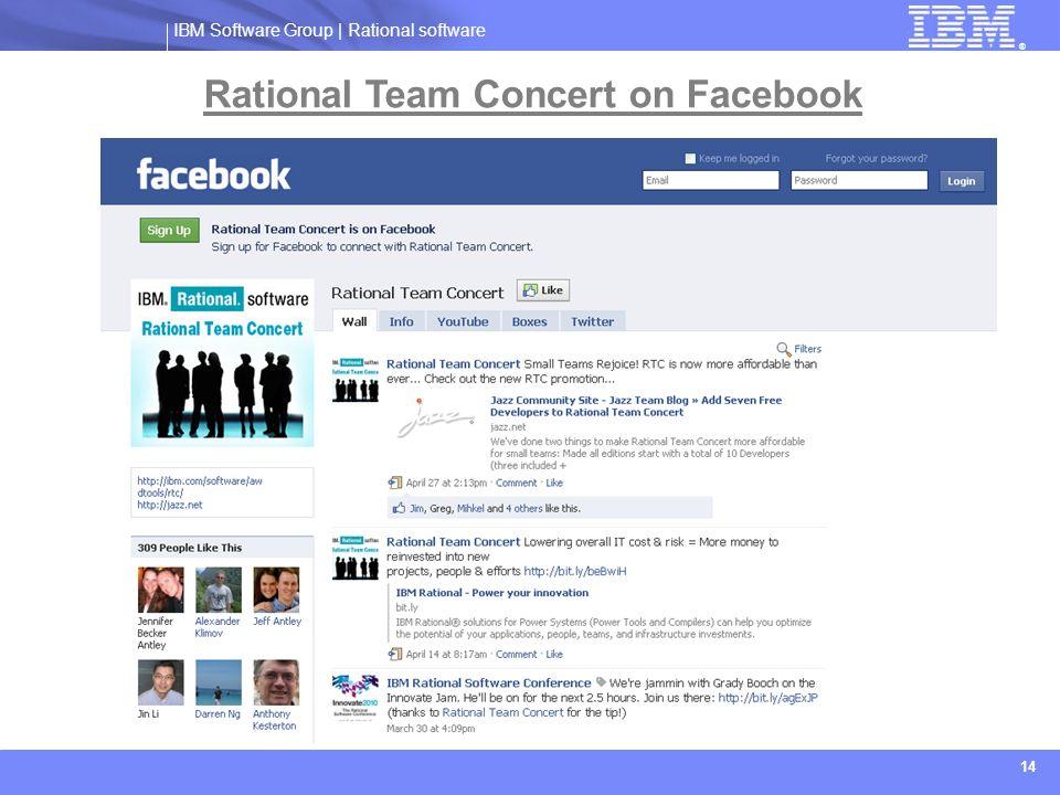 Rational Team Concert on Facebook