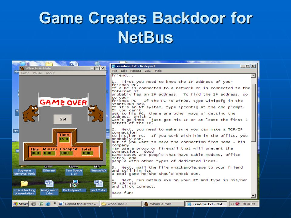 Game Creates Backdoor for NetBus