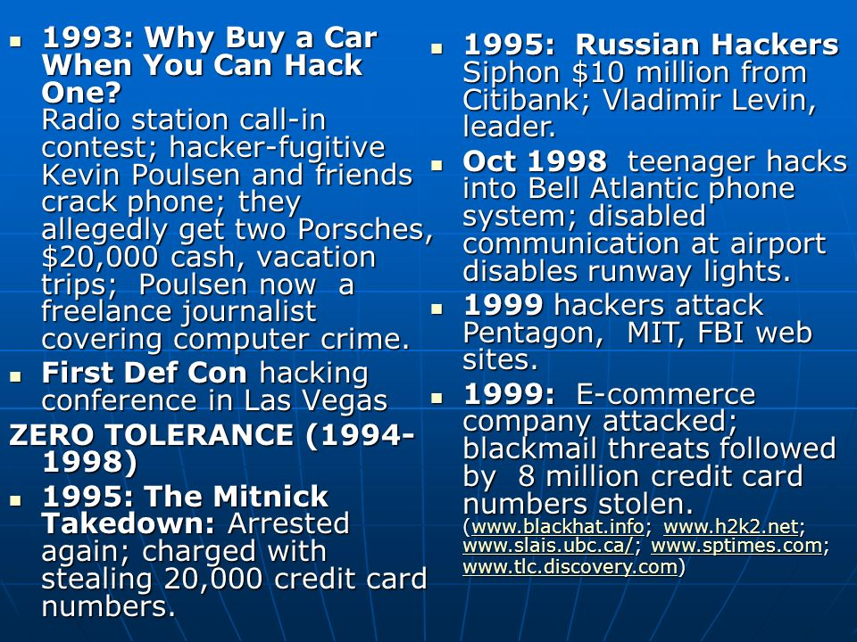 1993: Why Buy a Car When You Can Hack One