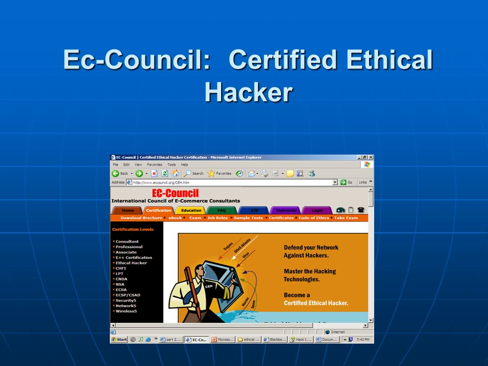 Ec-Council: Certified Ethical Hacker