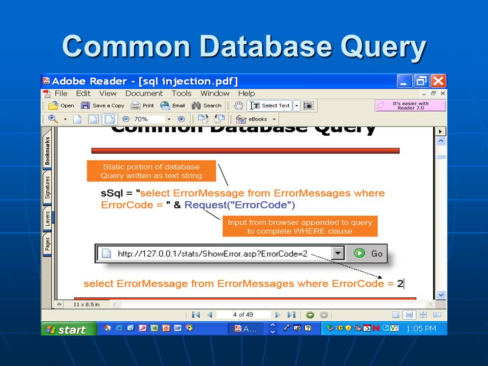 Common Database Query