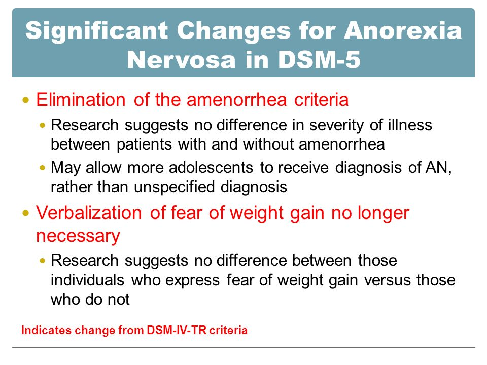 an analysis of anorexia nervosa