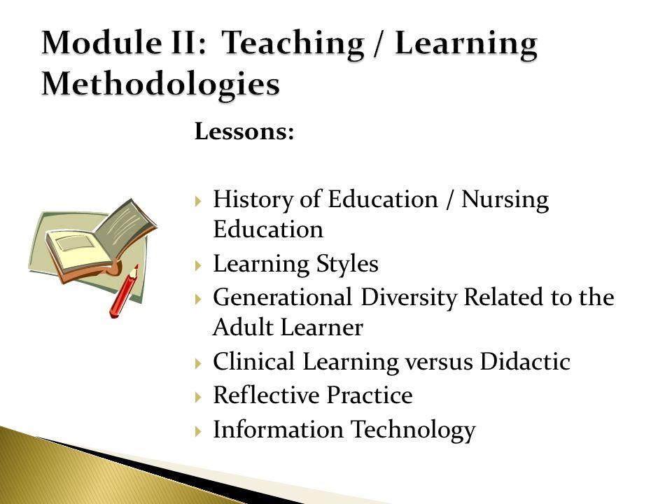 Module II: Teaching / Learning Methodologies