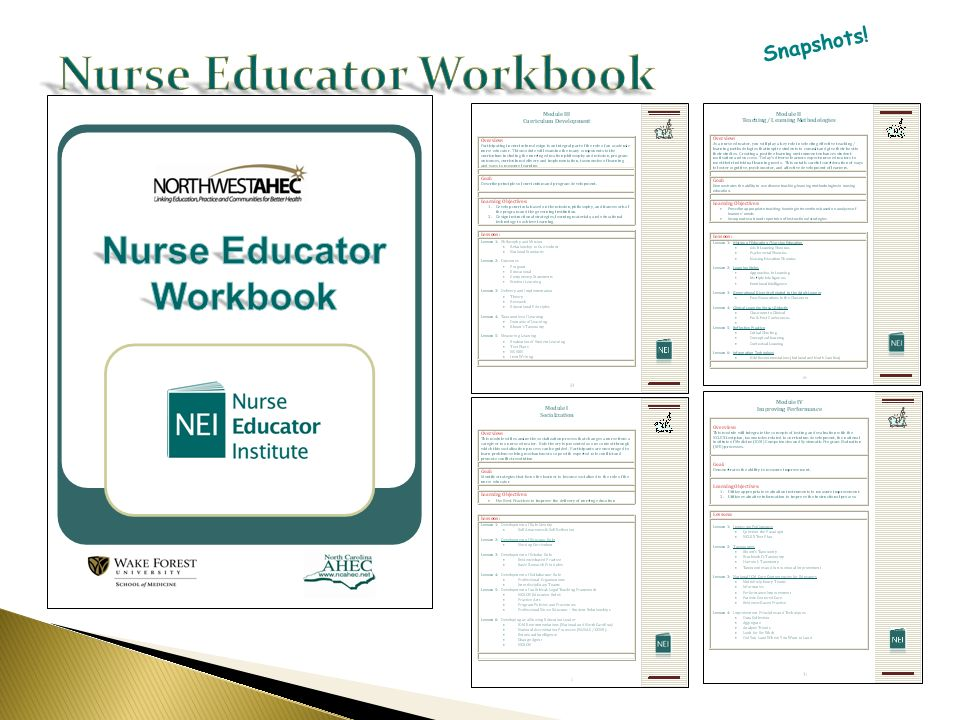 Nurse Educator Workbook