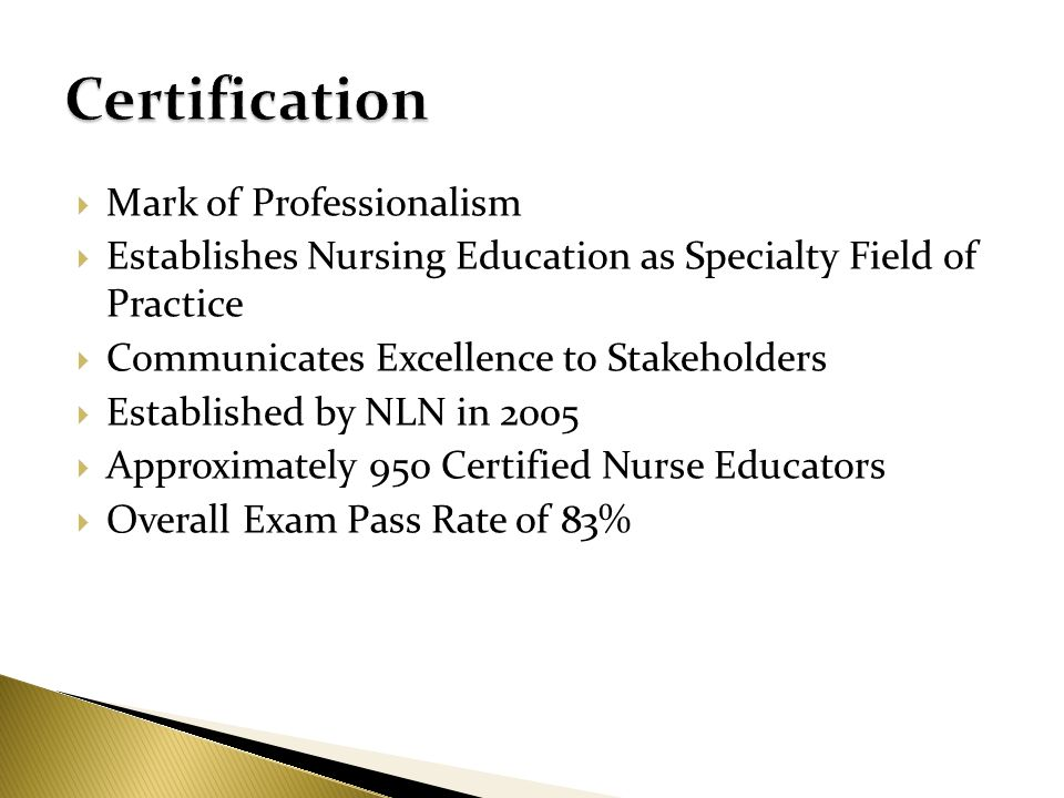 Certification Mark of Professionalism