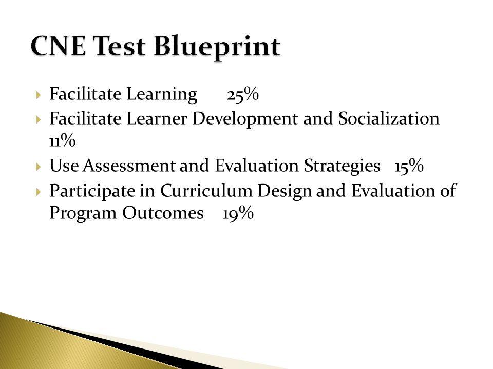 CNE Test Blueprint Facilitate Learning 25%