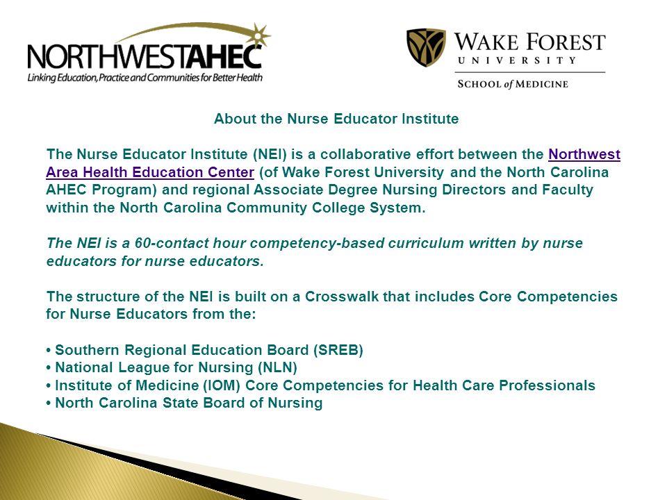 About the Nurse Educator Institute