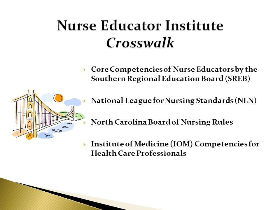 Nurse Educator Institute Crosswalk