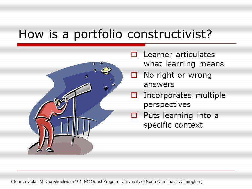 How is a portfolio constructivist