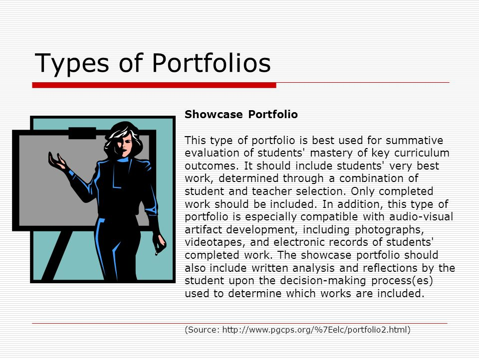 Types of Portfolios