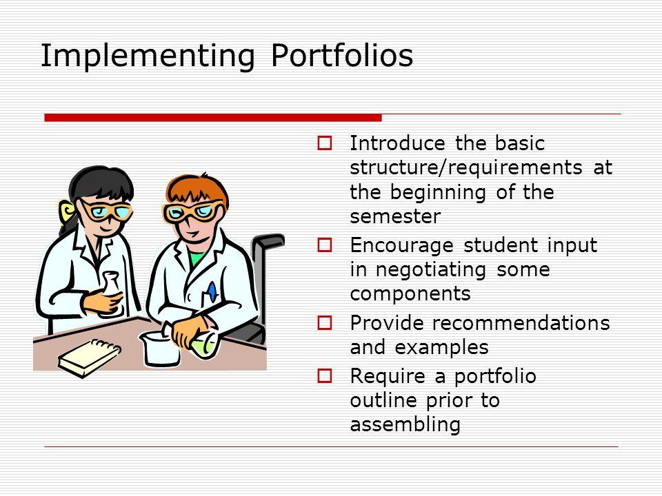 Implementing Portfolios