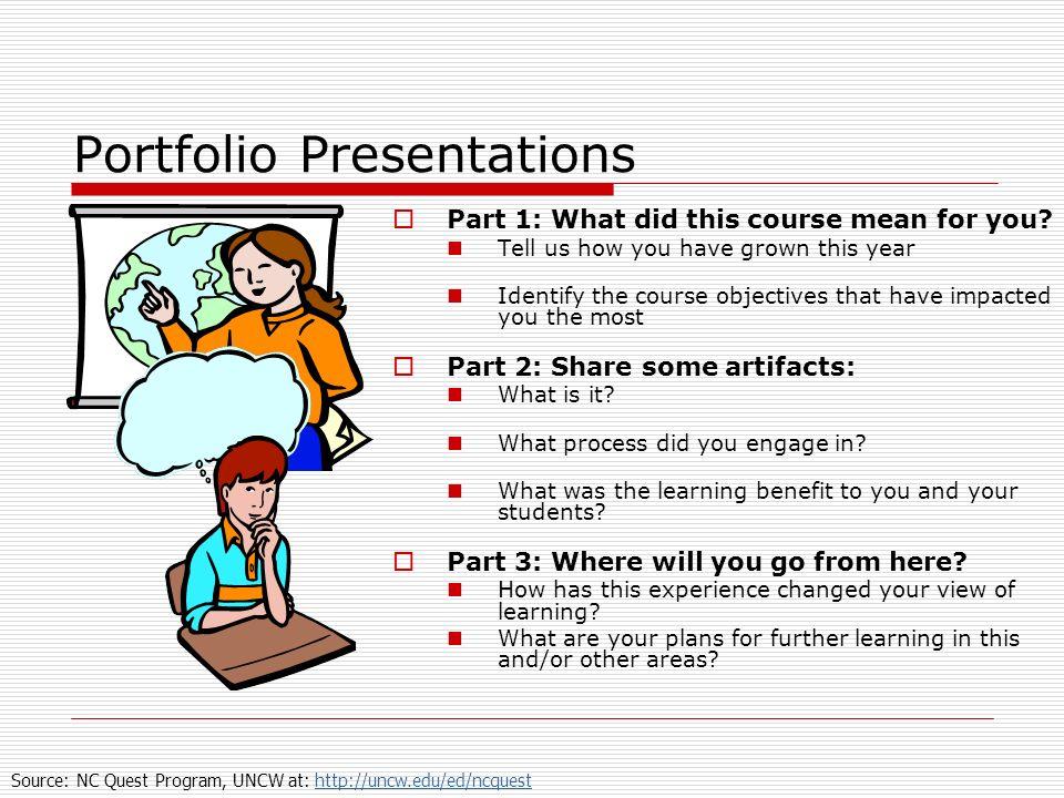 Portfolio Presentations