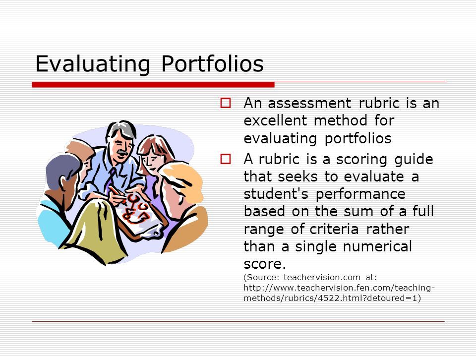 Evaluating Portfolios