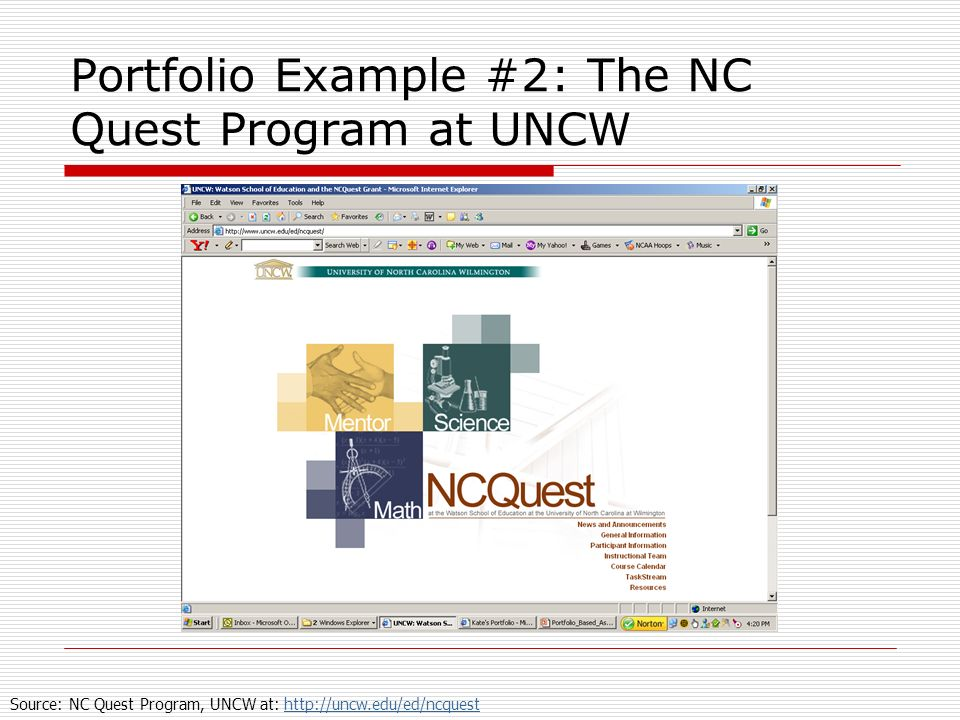 Portfolio Example #2: The NC Quest Program at UNCW