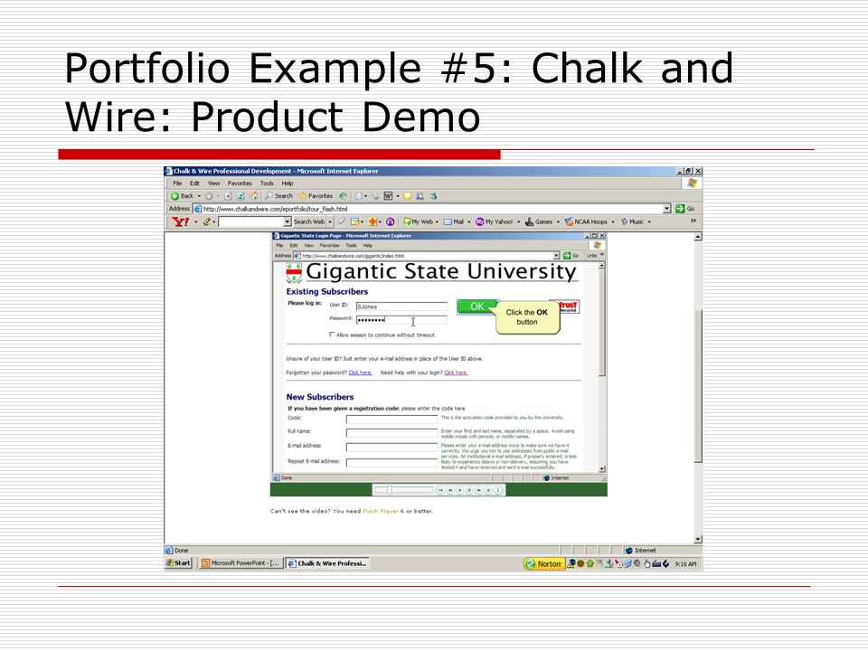 Portfolio Example #5: Chalk and Wire: Product Demo