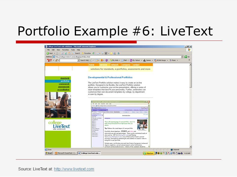 Portfolio Example #6: LiveText