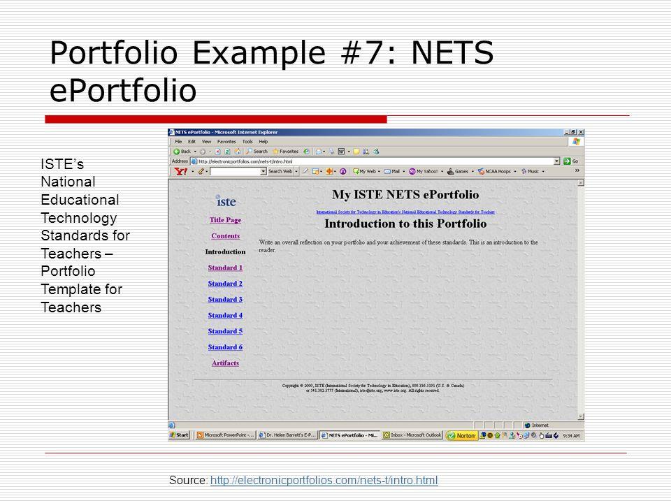 Portfolio Example #7: NETS ePortfolio